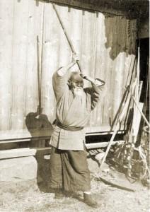 O-Sensei sword stance