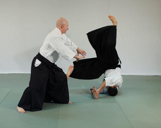 Koyu Nage Ethan Weisgard Aikido hos Aiki Shuren Dojo Valby